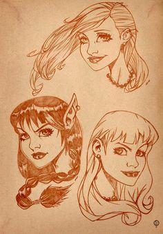 Study face girl toon. - Arte: Leandro Sans.  - Site: http://leandrosans.flavors.me - Comissão: leandrosansarte@gmail.com