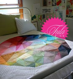 Tula Pink's Space Dust quilt with Angie Walters knockout quilting.  When I grow up I wanna be these two!