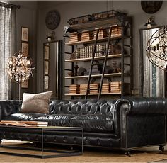 Kensington Leather Sofa Restoration Hardware OfficeLiving Room InspirationLiving