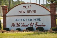 LOVE what this says, tried taking a picture of it when i was there but someone drove too fast! lol Welcome sign at the gate of Marine Corps Air Station New River in Jacksonville, NC Oorah Marines, Usmc, Mcrd San Diego, Once A Marine, Marine Mom, Total Frat Move, Marine Corps Bases, Parris Island, Morehead City