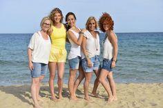 Con la Top Model CLARA MAS, la periodista Carme Barceló y Aurora Roduiguez y Cristina Platas ( deAcqua Perruquers)