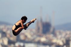 Yajie Si of China competes in the Women's 10m Platform Diving final  on day six of the 15th FINA World Championships at Piscina Municipal de Montjuic on July 25, 2013 in Barcelona, Spain.