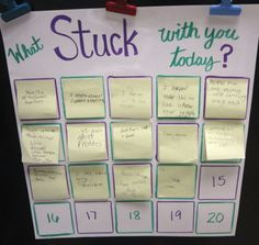Teach From The Heart: What Stuck With You Today? - Exit Tickets. Use sticky notes to keep exit tickets organized