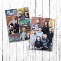 Merry-Happy-Love Family Christmas Card