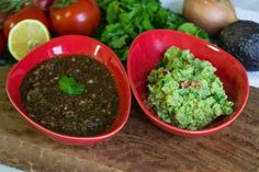 Restaurant Style Salsa and Guacamole