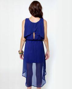 Lulu's Tier-ing Up Royal Blue Dress