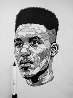Jacob Everett — Stop. Spin an MC round the block. Portrait Sketches, Art Sketches, Self Portrait Art, Stippling Art, Desenho Tattoo, A Level Art, Pencil Art Drawings, Dope Art, Art Plastique