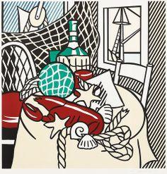 Roy Lichtenstein - Still Life with Lobster [1974]