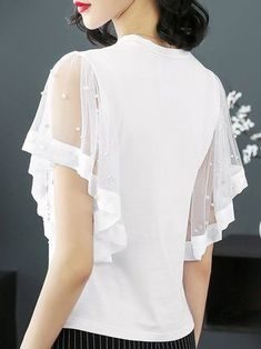 Shop Sexy Trending Dresses – Chic Me offers the best women's fashion Dresses deals Sleeves Designs For Dresses, Sleeve Designs, Blouse Styles, Blouse Designs, Designer Wear, Designer Dresses, African Fashion, Korean Fashion, Sewing Blouses