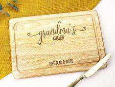 Gift for Grandma Gift for nana Gift for Nanna Gift For Nan Gifts For Nan, Birthday Gifts For Grandma, New Home Gifts, Grandma Gifts, Wedding Name Tags, Wedding Place Names, Wedding Place Settings, Wooden Bread Board, Wooden Chopping Boards