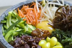 Sizzling Stone Pot Rice, A Multi-Grain Mix of Rice Mixed with Seasoned Vegetables & Meat