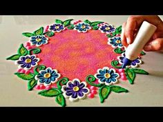 Jewerly Box Design Pattern Ideas For 2019 Easy Rangoli Designs Diwali, Colorful Rangoli Designs, Rangoli Ideas, Rangoli Designs Images, Beautiful Rangoli Designs, Simple Rangoli, Diwali Rangoli, Indian Rangoli, Simple Flower Design