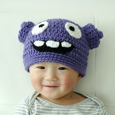 Oh Hat Boov Hat Home Hat Crochet Baby Hat Alien by stylishbabyhats