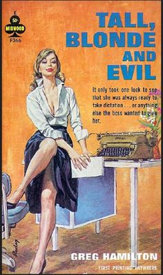 PAUL RADER - Tall, Blonde and Evil by Greg Hamilton - 1964 Midwood F366