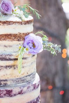 Naked wedding cake w