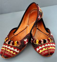 Vintage leather with embroidery. (LP collection)..Great inspiration for embroidered or hand painted shoes...hmmmm