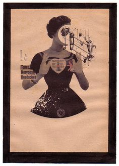 Premonition [Digital Collage on Vintage Paper] by AlexCano, via Flickr