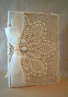 Chic Cards Altered Vintage Lace Doily Shabby Buttons by BrownPaperNest. Good idea for my Kindle cover! Shabby Vintage, Vintage Crafts, Vintage Lace, Wedding Vintage, Diy Wedding, Wedding Shot, Vintage Weddings, Vintage Ornaments, Vintage Santas