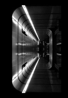 Futuristic Interior, Dark, Black, Science Fiction, Totally awesome sci fi…