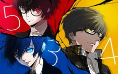 Artist: Pixiv Id 150727 |  Shin Megami Tensei: Persona 3 | Shin Megami Tensei: Persona 4 | Shin Megami Tensei: Persona 5 | Narukami Yu | Protagonist | Yuuki Makoto
