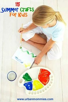 Here are 15 Summer crafts that are fun for little ones