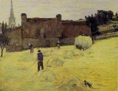 Gauguin : La fenaison en Bretagne