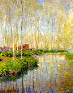 worldpaintings: Claude Monet The River Epte, 1885, oil on canvas, private collection.