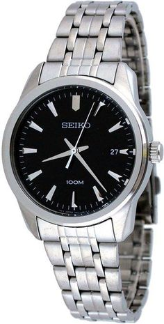 Seiko Casual Black Dial Stainless Steel Mens Watch SGEG05 - http://yourperfectwatch.com/seiko-casual-black-dial-stainless-steel-mens-watch-sgeg05/