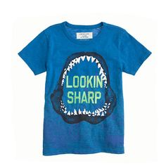 Boys' glow-in-the-dark surf shark tee