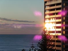 Sunrise over Surfer's Paradise, Qld, Australia