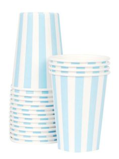 $5.25 Blue Stripey Cups