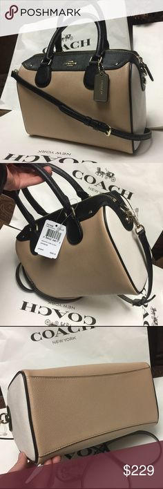 ❤️Coach Purse❤️ 100% Authentic Coach Purse, brand new with tag!.color BechwodChlkMulti. Coach Bags Crossbody Bags