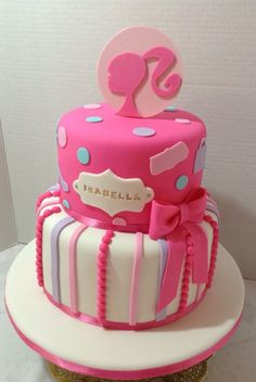 Excellent Photo of Barbie Birthday Cake Barbie Birthday Cake 11 Cool Barbie Themed Birthday Cakes Photo Barbie Doll Birthday Themed Birthday Cakes, Happy Birthday Cakes, Birthday Cake Girls, 5th Birthday, Birthday Ideas, Barbie Party Decorations, Barbie Theme Party, Barbie Cake Designs, Barbie Doll Birthday Cake