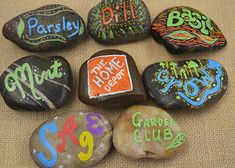 Pick up river rocks and paint pens and create your own plant markers for the garden. Click through for inspirational plant marker ideas at The Home Depot's Garden Club.