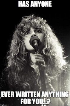 a lovely but sad Stevie photo edit of a song written about the death of Joe Walsh's eldest daughter, Emma Kristen when she was very young; this song was written by Stevie and Keith Olsen and was part of her 1985 album 'Rock a Little'    ~ ☆♥❤♥☆ ~  http://www.songfacts.com/detail.php?id=4763  ~    https://en.wikipedia.org/wiki/Has_Anyone_Ever_Written_Anything_for_You%3F