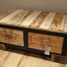 This fantastically quirky coffee table is made using pallets which have been left to litter the street. Each one is completely unique, the legs, drawers and knobs/pulls differ from piece to piece giving each table its own personality.