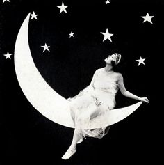star, stars, moon, moon, stars and moon, vintage, vintage photograph, black and white photo,