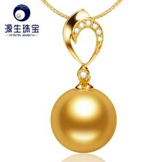 Aliexpress.com : Buy 10 11mm High Luster Single South Sea Golden Pearls Pendant 18K Gold Heart Shape Diamond Pendant YSPSG003 from Reliable pendant tiffany suppliers on pearls by yuansheng
