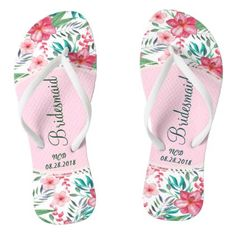 #bridal - #Bridesmaid Hawaiian Wedding Favor Initials Script Flip Flops