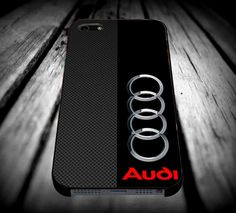 Audi logo on a field of Black and simulated Carbon Fiber iPhone 4/4s/5/5s/5c/6/6 Plus Case, Samsung Galaxy S3/S4/S5/Note 3/4 Case, iPod 4/5 Case, HtC One M7 M8 and Nexus Case **