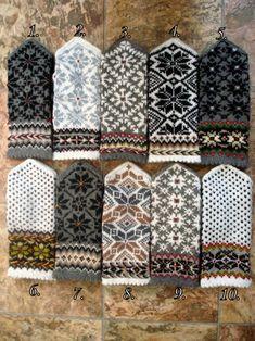 Hand Knit Gray White Wool Mittens Hand Knit Gray White Wool   Etsy Knitted Mittens Pattern, Knit Mittens, Knitting Patterns, Wool Gloves, Knitted Gloves, Motif Photo, Crochet Flower Tutorial, Fabric Yarn, Christmas Knitting