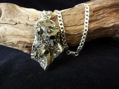 Sparkly Pyrite Druzy Pendant with Heavy Sterling by carolesart, $225.00
