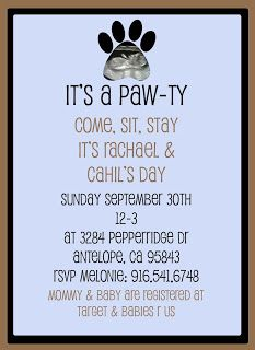 invitation to puppy party shower