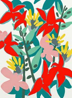 Floral carnival Art Print by Frameless Art Floral, Floral Prints, Art Prints, Textures Patterns, Print Patterns, Pattern Print, Art Watercolor, Illustration Blume, Art Design