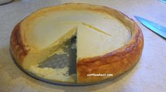 """Creamy Crustless Cheesecake: Low Carb, Gluten Free, Grain Free, Sugar Free - Good, easy, straightforward recipe - Trick is not to beat the mixture to death! - makes for a """"curdly"""" or """"eggy"""" texture - 4 g carbs, per serving / Cut the Wheat, Ditch the Sugar"""