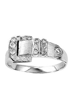 Kelly Herd Brushed Classic Buckle Ring