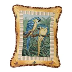 I pinned this Parrot Petit-Point Pillow in Gold from the Enchanting Tiki Bar event at Joss and Main!