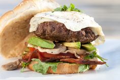 Ultimate Bacon 'n Egg Burger with Roasted Garlic Mayo