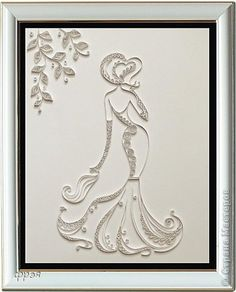 Beautiful White on White Wedding (or ????) Quilled project!! Tooooo beautiful!!!