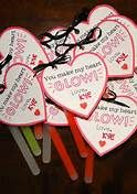 """non-food valentines for kids - Glo Sticks - """"You make my heart glow!"""""""
